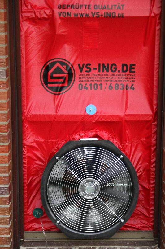 Blower Door Test Hamburg Thermografie Immobilienverkauf Immobilienmakler Pinneberg Halstenbek Schenefled