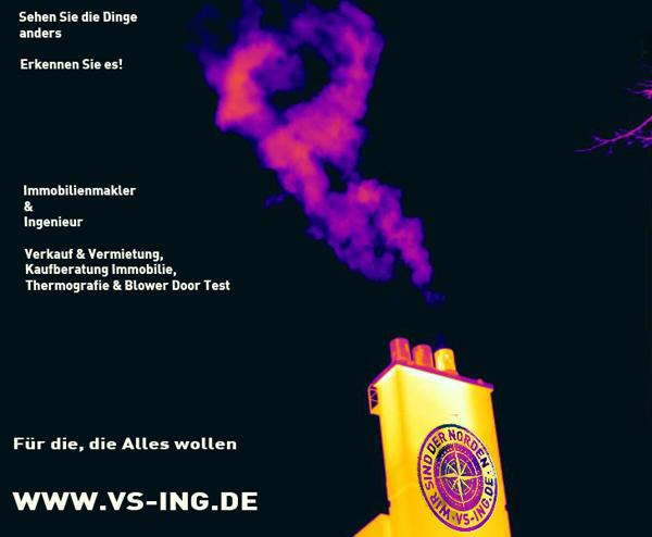 Immobilienmakler Hamburg Kreis Pinneberg und Norddeutschland Immobilienberatung Verkauf Thermografie Blower Door Test